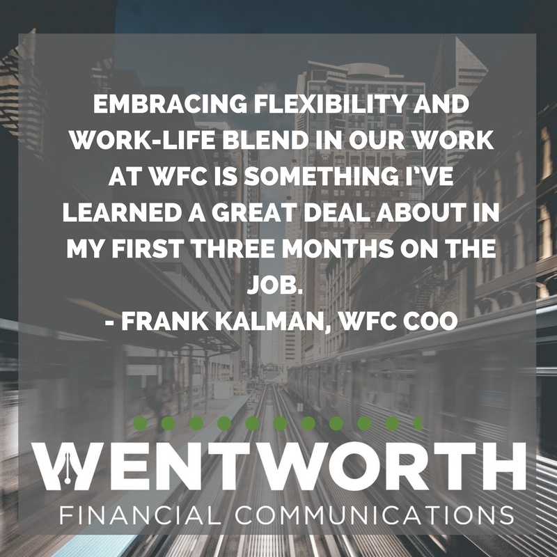 What I've Learned About Flexibility and Work-Life Blend in My First Quarter at WFC